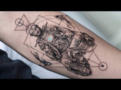 buddha time lapse tattoo by daniel silva