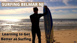 Surfing Belmar NJ on a Foam Fish | Learning To Surf