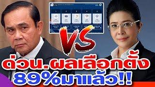 ด่วน ผลมาแล้ว นับคะแนนไปแล้ว 89% พลังประชารัฐ เพื่อไทย อนาคตใหม่ ภูมิใจไทย