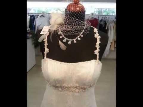 Brautkleid La Palma von Angely in ivory Gr. 38 - Traumkleid aus Spitze im Empire Stil nur 700€