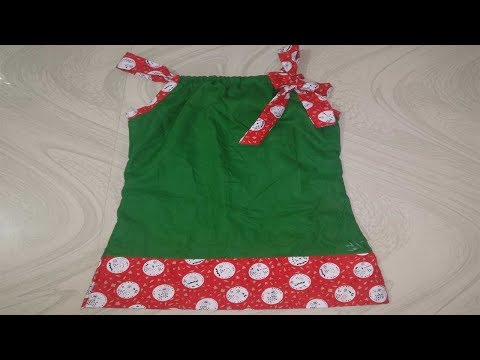 SIMPLE AND STYLISH KIDS COTTON FROCK/ PILLOWCASE FROCK STITCH AT HOME CUTTING AND STITCHING.