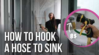 How to connect a garden hose to your sink (faucet to garden hose)