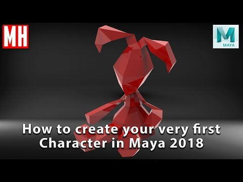 Maya 2018 tutorial : How to create your very first 3D Character