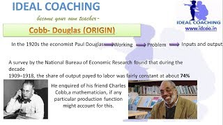 PART 1- COBB- DOUGLAS PRODUCTION FUNCTION (HINDI)