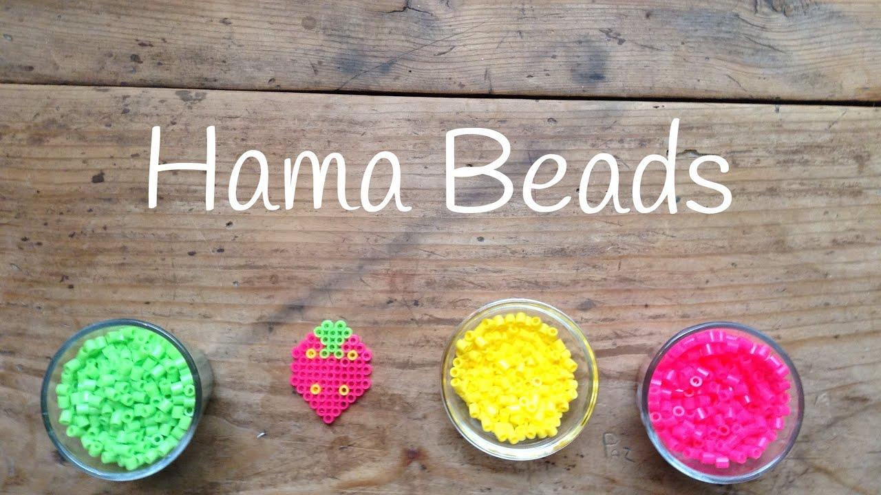 Plantillas hama beads, una bonita fresa