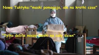 """Nowa Taktyka: """"maski pomagaja, ale tylko na chwilke; tylko debile nosza maski caly dzien"""" – WUJEK TIMO"""