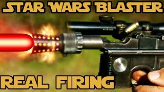 REAL FIRING STAR WARS BLASTER! WORLD RECORD 6 shots in 0.8 seconds with Han Solo