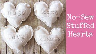 No-Sew Stuffed Hearts