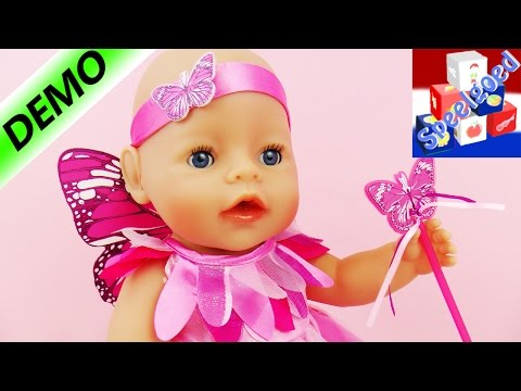 Baby Born Wonderland feeënjurk | Kostuum met vlindervleugels, haarband en toverstaf