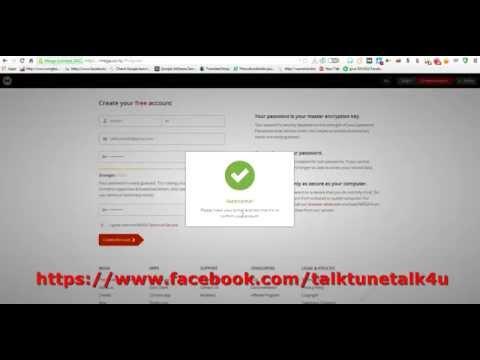 Video Cara-cara register Cloud Storage percuma di mega.co.nz