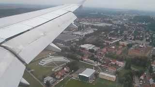 Landing in Prague Airport Aegean Airlines A320