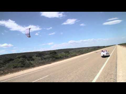 Watch A Kite-Powered Car Cruise Down The Australian Landscape
