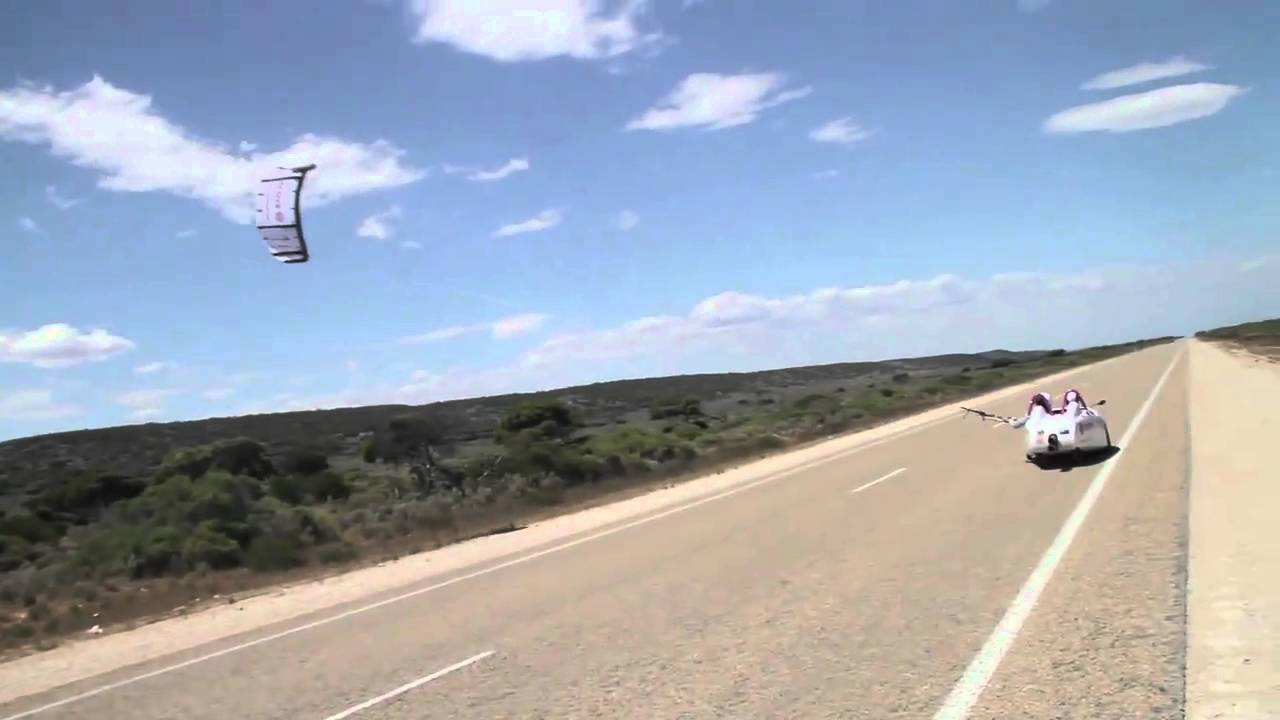 Watch A Kite-Powered Car Cruise Down The Australian Landscape