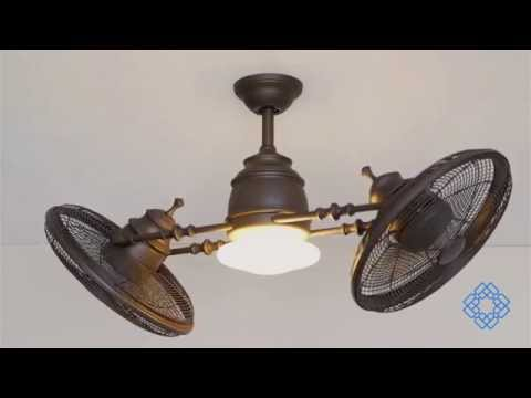 Video for Vintage Gyro Oil Rubbed Bronze 42-Inch Ceiling Fan