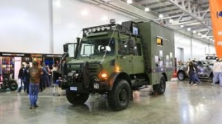 Unimog U4000 Expedition Vehicle 4x4 - Offroad camper truck Walkaround - Moscow Tuning Show 2014