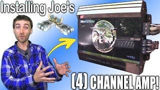 Installing 4 Channel Amp w/ Joe's SOUNDSTREAM Tarantula Amplifier   Wiring Up & Tuning Gain Settings