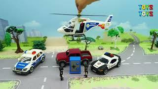 Полицейская машина Скорая помощь Грузовик Самосвал - новые игрушечные видео - police cars for kids