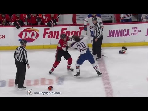 Luke Gazdic vs Chris Neil