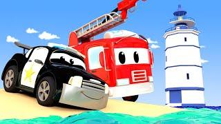 Policejní auta pro děti - Oslňující světla na dálnici Město Aut!