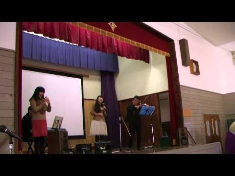平成26年1月29日 綾部市立上林小学校音楽集会にて