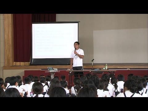 パラ陸上やり投げ田中選手小学校で講演 「まずは挑戦してみることが大事」香川・坂出市