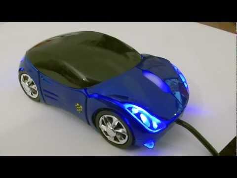 Optische AUTO | CAR | USB Maus Mouse mit LED-Beleuchtung laptop PC mit Felgen