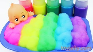 Learn Colors Baby Doll Color Foam Bubble Bath Time Orbeez Bubble Gum Play Doh Suprise Eggs Baby Song