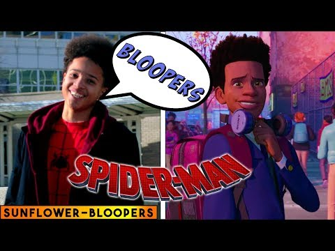 Sunflower BLOOPERS - Spiderman: Into the Spider Verse - in real life