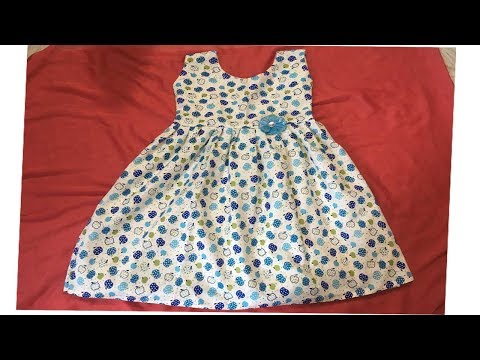 KIDS SUMMER COTTON FROCK CUTTING AND STITCHING AT HOME STEP BY STEP.