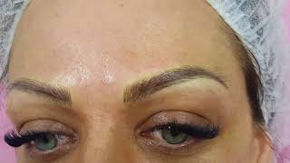 Eyebrows Microblading over old PMU by El Truchan @ Perfect Definition