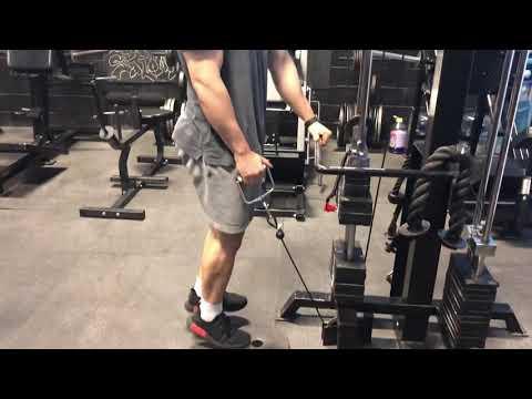922. Cable single leg calf raises