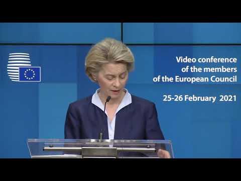 Πρόεδρος ΕΕ κ. φον ντερ Λάιεν   Συνεργασία με τις χώρες της Νότιας Γειτονίας