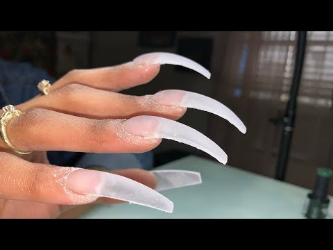 XX-Long Curve Acrylic Nails | Acrylic Nails Tutorial | 80s-90s Inspired Nails