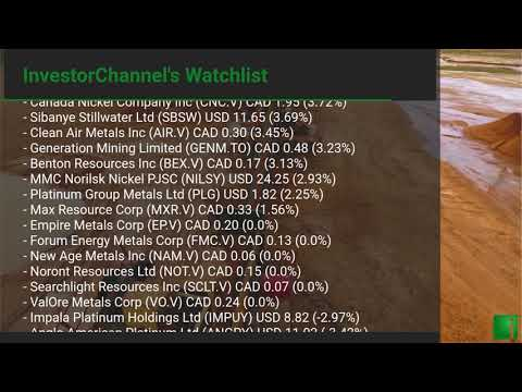 InvestorChannel's Palladium Watchlist Update for Thursday, ... Thumbnail
