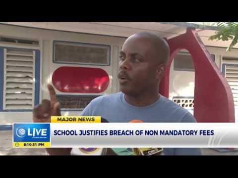 School  justifies non mandatory fees