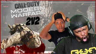 They Have To Be HACKERS! The Worst Cheek Tapping Ever?! (Call of Duty MW 2v2)