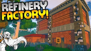 """ECO Multiplayer Gameplay - """"THE EMPTY REFINERY FACTORY!!!"""" Walkthrough Let"""