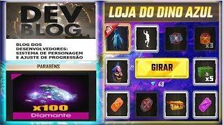 Data da Loja Misteriosa 7 0, Dino Azul, Diamantes de GRAÇA e Mudanças no Sistema de Personagens