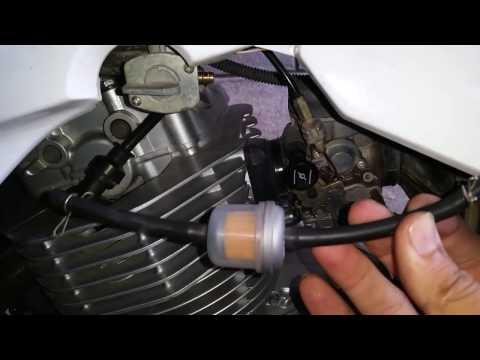 Cómo istalar filtro de gasolina en una moto
