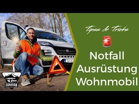 Wohnmobil Notfall Ausrüstung - Warndreieck Verbandkasten und Co