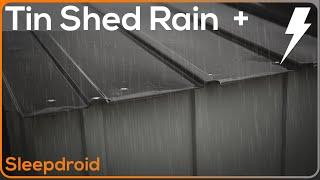 Rain Sounds ► Tin Roof Rain Video. Rain Sounds for Sleeping, 10 hours Rain on a Metal Shed- Tin Roof