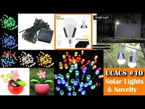 Unboxing Cool and Cheap stuff #10 - Solar Powered Lights & Novelty