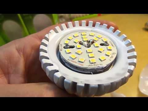 Ремонт лампы на светодиодах. Евроламп 20Вт.  Схема.