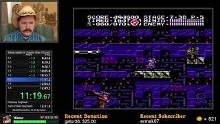 Ninja Gaiden III NES speedrun in 12:47 by Arcus