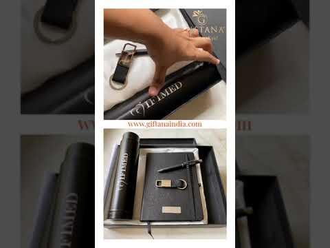 4 In 1 Gift Set Pen Keychain Diary Bottle