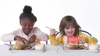 Kids Try 100 Years of School Lunches Backwards!
