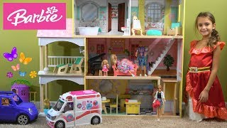 Barbie and Ken NEW House Story with Barbie Ambulance and Hospital, Chelsea Doll, and Barbie Toys