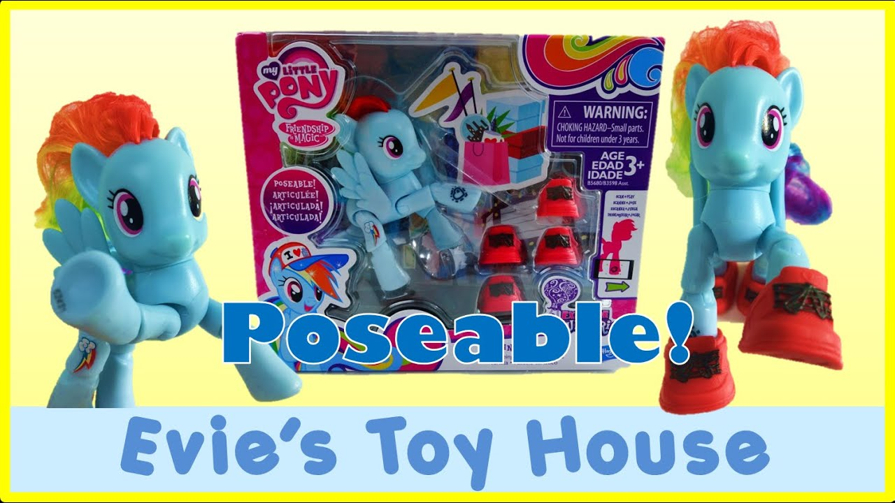 My Little Pony POSEABLE Rainbow Dash - Friendship Celebration App Play  | Evies Toy House