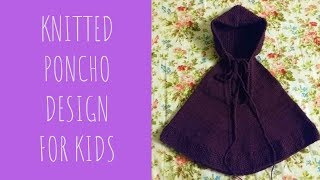 Knitted Baby poncho