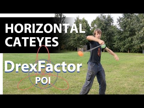How To Do Horizontal Cateyes For Poi: 1-minute Tutorial